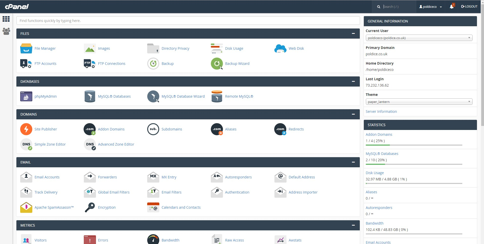 Installing WordPress using cPanel - Getting Started - cloudabove